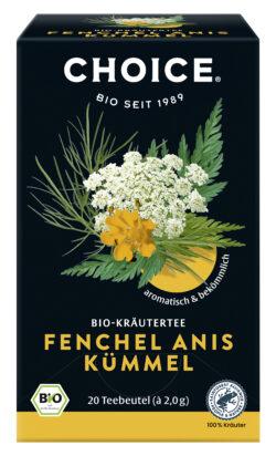 CHOICE Fenchel Anis Kümmel Bio 6x40g