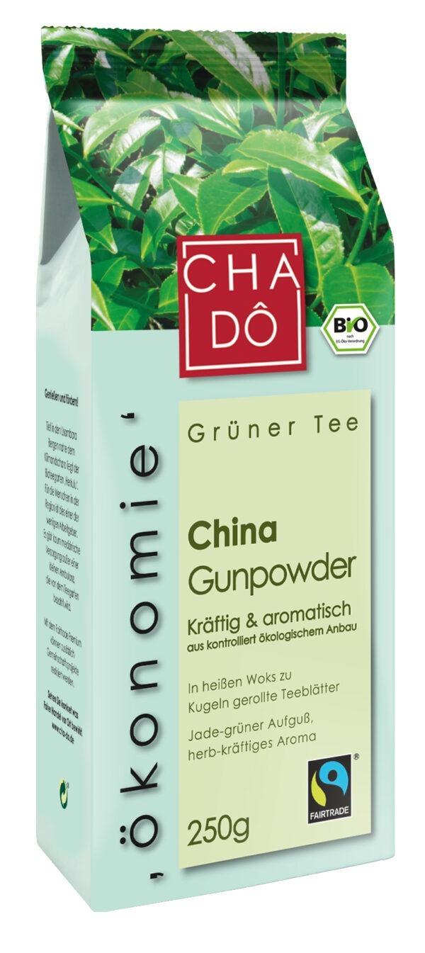 Cha Dô Ökonomie Fairtrade China Half Gunpowder 10x250g