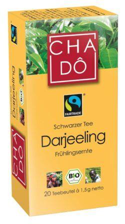 Cha Dô Fairtrade Darjeeling Teebeutel 20x1,5g 12x30g