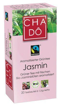 Cha Dô Fairtrade Jasmin Teebeutel 20x1,5g 12x30g
