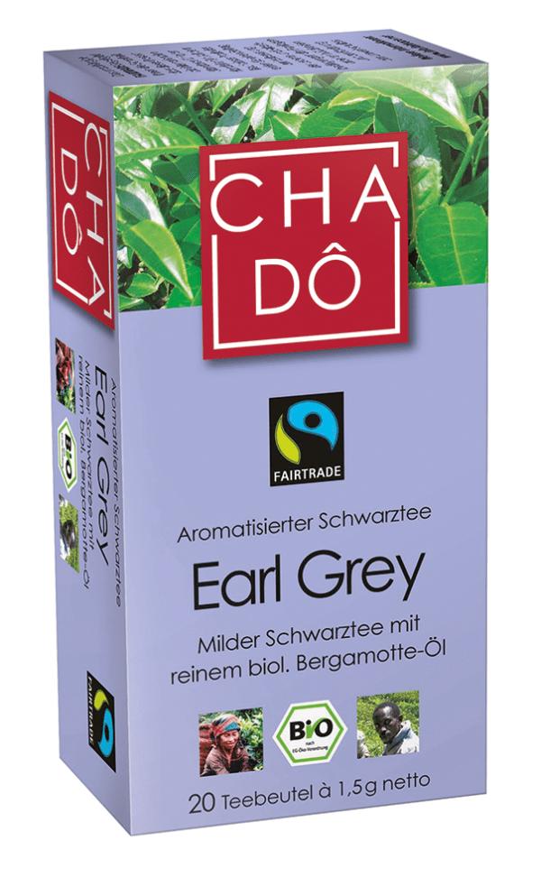 Cha Dô Fairtrade Earl Grey Teebeutel 20x1,5g 12x30g