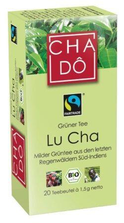 Cha Dô Fairtrade Lu Cha Grüntee Teebeutel 20x1,5g 12x30g