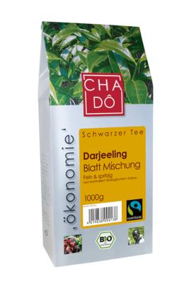 Cha Dô Ökonomie Fairtrade Darjeeling Schwarztee 1Kg 1000g