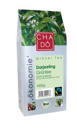 Cha Dô Ökonomie Fairtrade Darjeeling Grüntee 1Kg 1000g