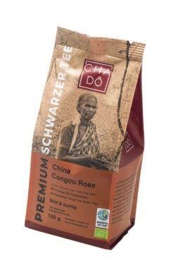 Cha Dô Premium Congou Rose Schwarztee WFTO 5x75g