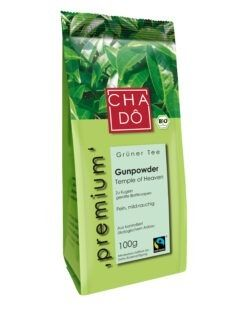 Cha Dô Premium Fairtrade Pinhead Gunpowder 5x100g