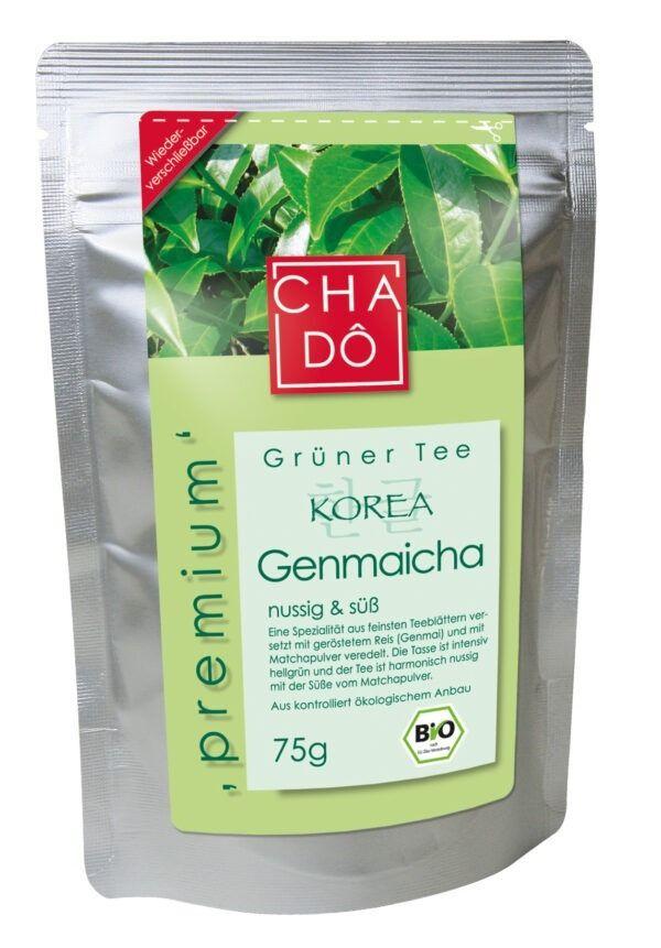Cha Dô S.Korea Premium Genmaicha - Grüntee mit Matcha und geröstetem Reis 5x75g