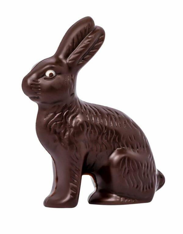Chocolat Schönenberger Feldhase dunkel, Zartbitterschokolade VEGAN 12x35g