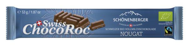 Chocolat Schönenberger Schweizer Bio Vollmilchschokolade, Swiss ChocoRoc Nougat 10x53g