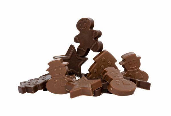 Chocolat Schönenberger Weihnachtsdekorschokolade, Vollmilch- & Zartbitterschokolade 12x90g