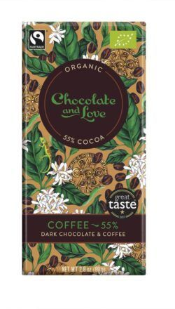 Chocolate And Love Coffee - 55% Dunkle Schokolade mit Kaffee 14x80g