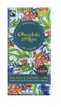 Chocolate And Love Dark Chocolate with Sea Salt & Caramel 14x80g