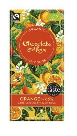 Chocolate And Love Orange - 65% Dark Chocolate and Orange 14x80g