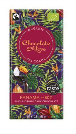 Chocolate And Love Panama 80% - Dark Chocolate aus Panama 14x80g