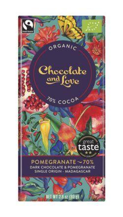 Chocolate And Love Pomegranate - 70% Dark Chocolate and Pomegranate 14x40g
