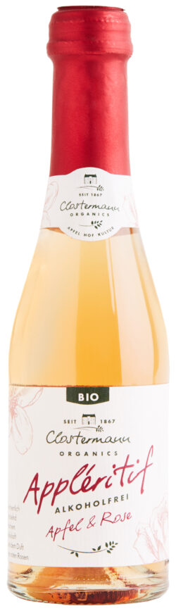 Clostermann Appleritif Apfel & Rose Piccolo (alkoholfrei) 12x0,2l