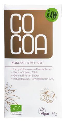 Cocoa Kokosschokolade 10x50g