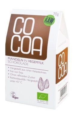 Cocoa Mandeln in Vegemylk Schokolade 8x70g