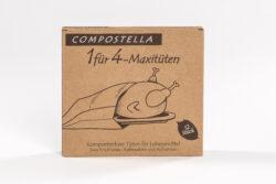 Compostella Kompostierbare Naturpapiertüten zum Erhitzen von Snacks und zum Einfrieren trockener Speisen 12x4,5l