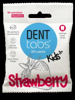DENTTABS Kids Strawberry - mit Fluorid 125Stück