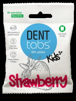 DENTTABS Kids Strawberry - ohne Fluorid 125Stück