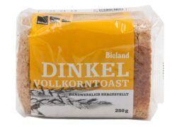 Das Backhaus Bioland Dinkelvollkorn Toast 8x250g