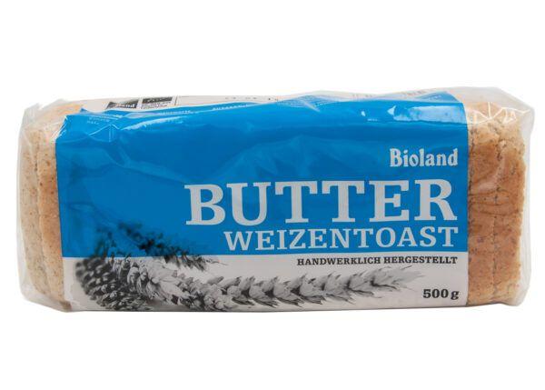 Das Backhaus Bioland Weizen Butter-Toast 6x500g