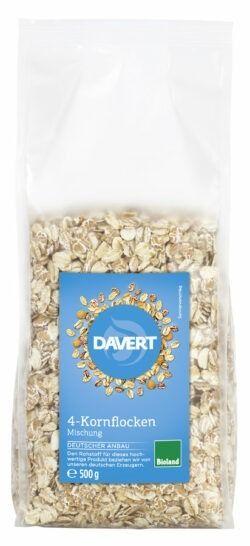 Davert 4-Korn-Flocken Bioland 6x500g
