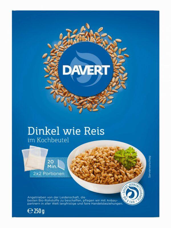 Davert Dinkel wie Reis im Kochbeutel 250g