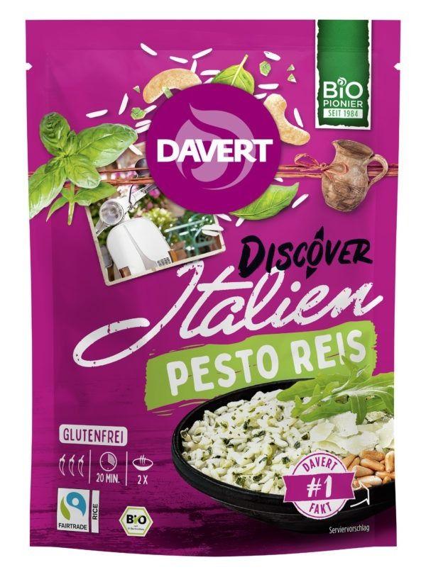 Davert Discover Italien Pesto Reis Glutenfrei 125g Fair Trade 8x125g
