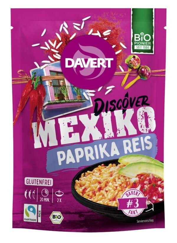 Davert Discover Mexiko Paprika Reis Glutenfrei 125g Fair Trade Rice 8x125g