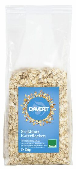 Davert Großblatt Haferflocken Bioland 6x500g