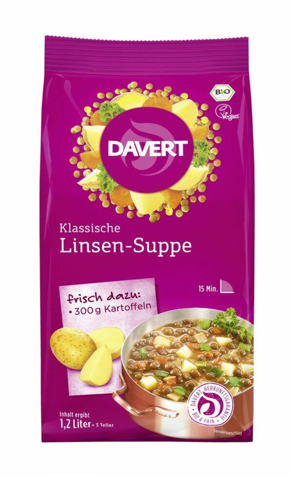 Davert Klassische Linsen-Suppe 6x170g