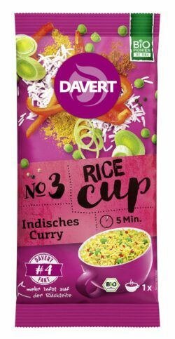 Davert Rice-Cup Indisches Curry 8x67g