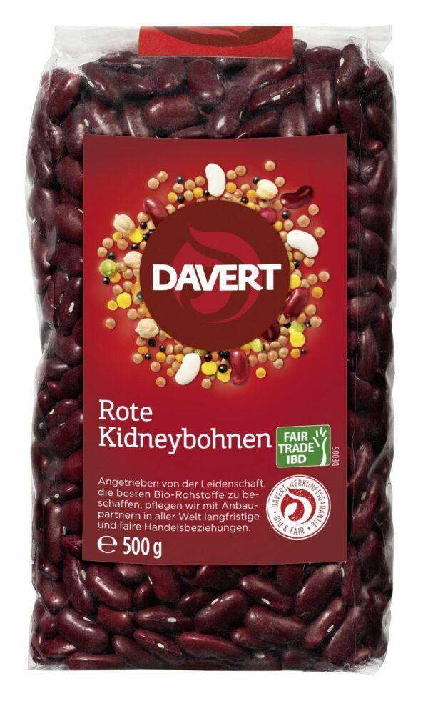 Davert Rote Kidneybohnen Fair Trade IBD 8x500g