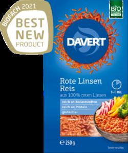 Davert Rote Linsen Reis 250g
