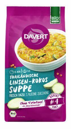 Davert Thailändische Linsen-Kokos-Suppe 6x170g