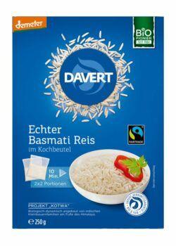 Davert demeter Echter Basmati Reis im Kochbeutel Fairtrade 6x250g