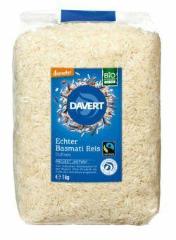 Davert demeter Echter Basmati Reis weiß Fairtrade 8x1kg