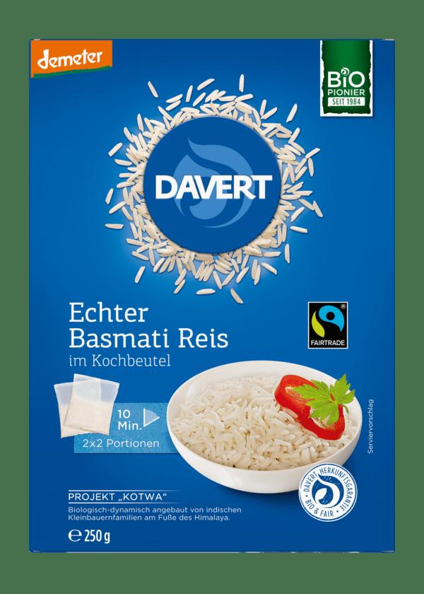 Davert demeter Echter Basmati Reis im Kochbeutel Fairtrade 250g