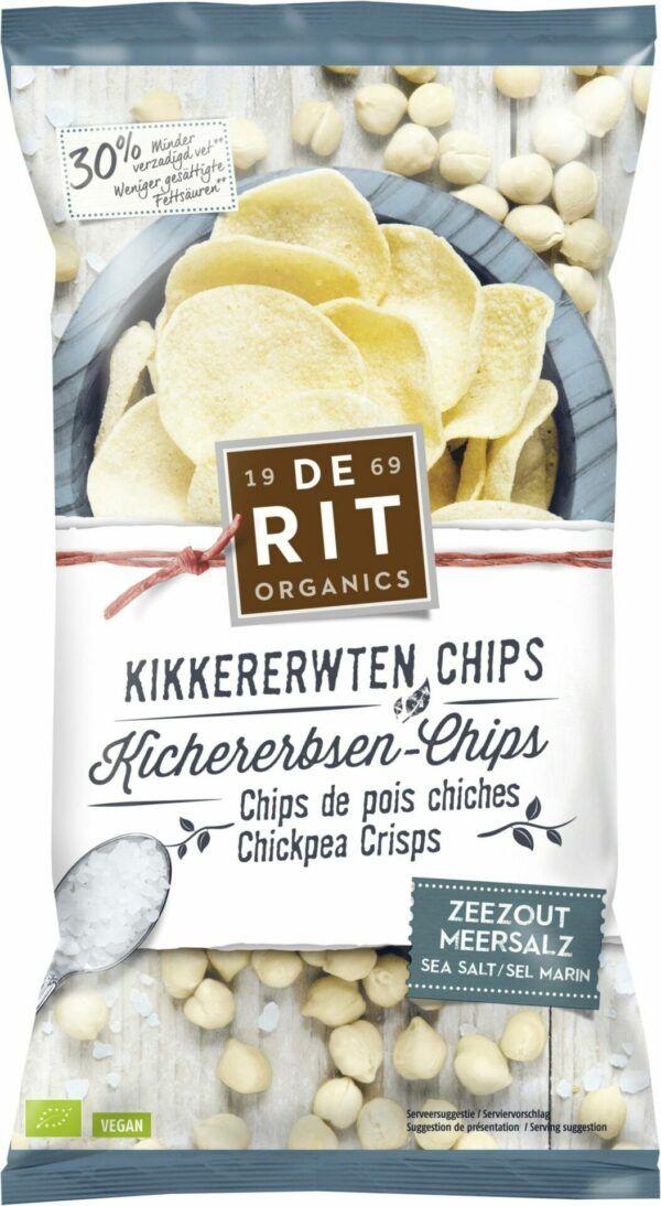 De Rit Kichererbsen-Chips Meersalz 8x75g