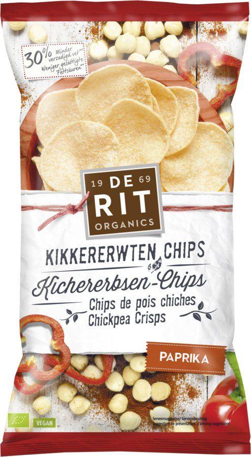 De Rit Kichererbsen-Chips Paprika 8x75g