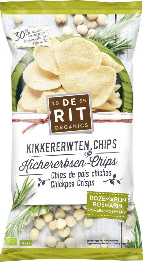 De Rit Kichererbsen-Chips Rosmarin 8x75g