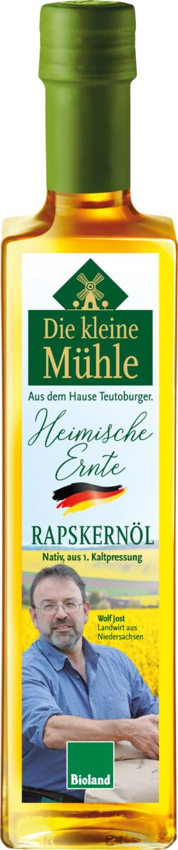 Die kleine Mühle Kl.Mühle Heimische Ernte Raps-Kernöl kalt-warm-heiß 6x500ml