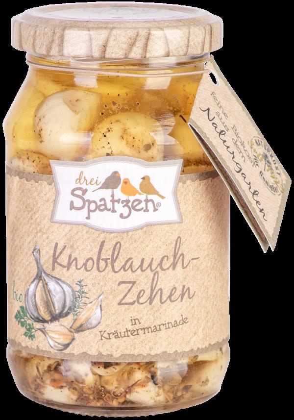 Drei Spatzen  Knoblauchzehen in Kräutermarinade 6x250g