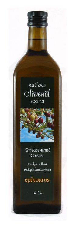 EPIKOUROS Olivenöl extra nativ von Kalamata/Griechenland, 1 Liter 6x1l