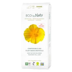 Eco by Naty Binden Nacht, 10 Stück. 100% Kompostierbare Materialien. Vegan. 4x10Stück