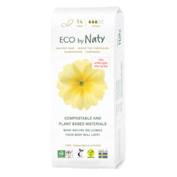Eco by Naty Binden, Normal 14 Stück. 100% Kompostierbare Materialien Vegan 4x14Stück