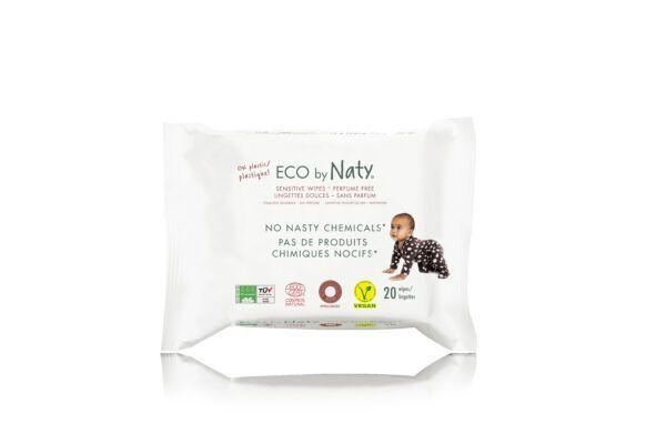 Eco by Naty Feuchttücher Reisepack unparfümiert 20 Stück je Packung 12x20Stück