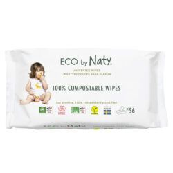 Eco by Naty Feuchttücher unparfümiert, 56 Stück je Packung 12x56Stück